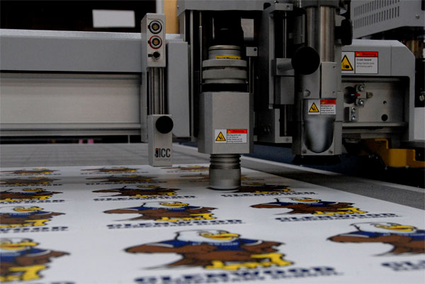 CNC Router cutting graphics out