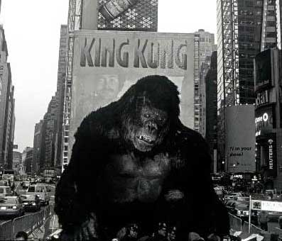 King Kong Debuts in Time Square